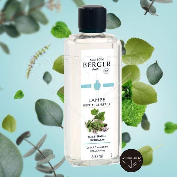 Recambio Lampe Berger Sève Eternelle 500 ml aroma menta aloe vera