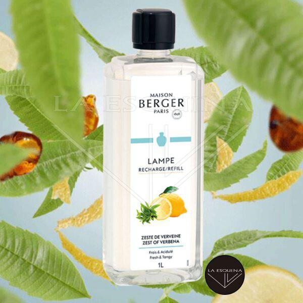 Recambio Lampe Berger Zeste de Verveine, aroma fresco de limon