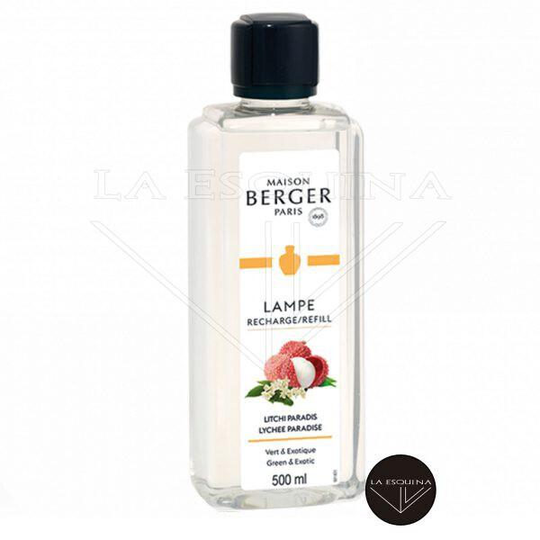 Recambio Lampe Berger Litchi Paradis 500 ml aroma Melón, Limón, Manzana y Eucalipto