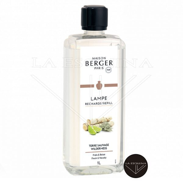 perfume parfum lampe berger parís terre sauvage 1L Aroma te verde y sandalo