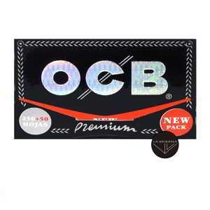 Papel OCB Premium 300 78 mm, papel ultrafino, cada librito contiene 300 papelitos