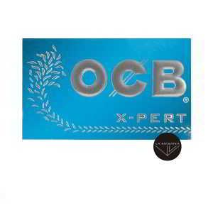 Papel de Liar OCB X-pert Azul Corto de 70 mm. Contiene 100 hojas de papel para fumar