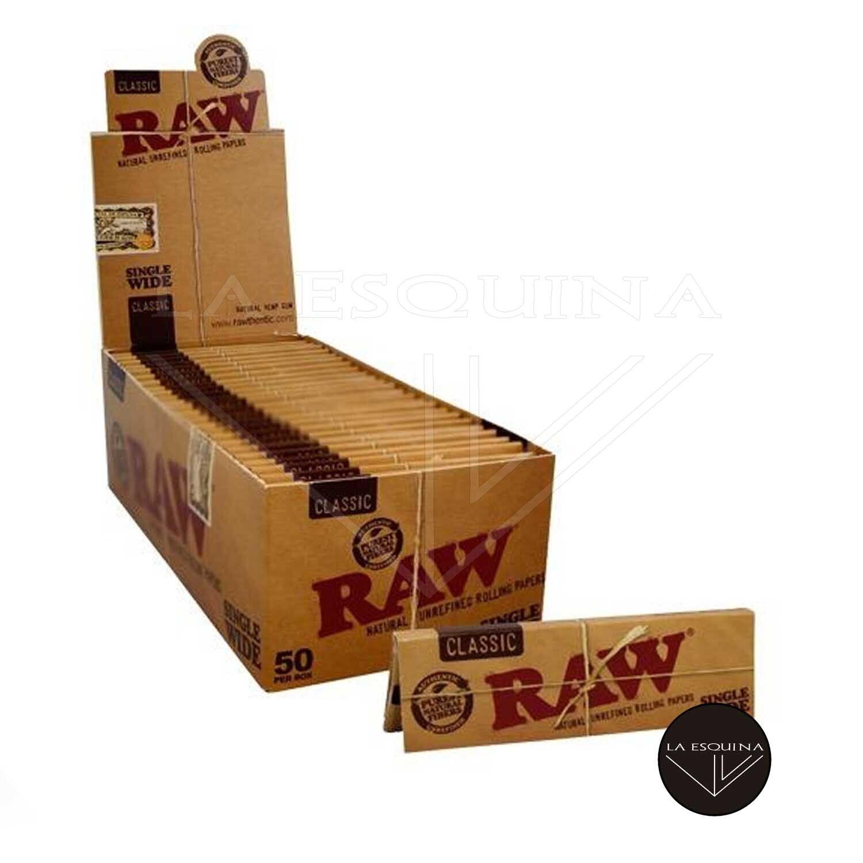 Caja de 50 Papel RAW Corto 70 mm
