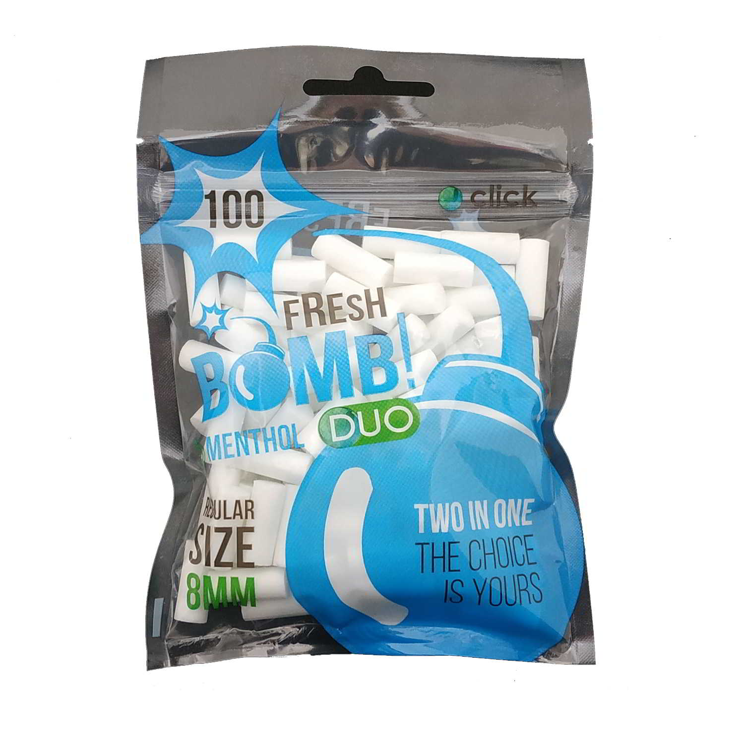 Filtros FRESH BOMB! Menthol Duo Regular 8 mm