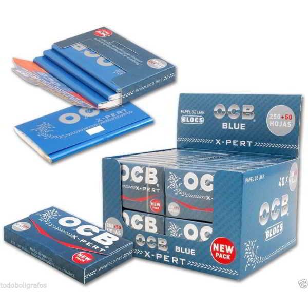 Caja de 40 Papel OCB X-PERT Blue 300 70 mm