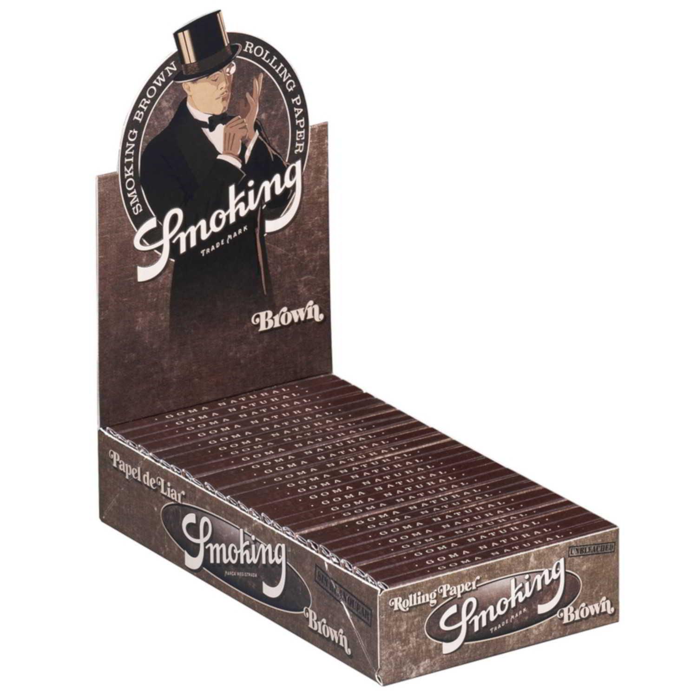 Caja de 25 Papel SMOKING Brown 78 mm