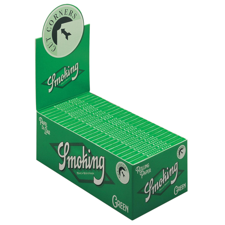 Caja de 50 Papel SMOKING Green Corto 70 mm