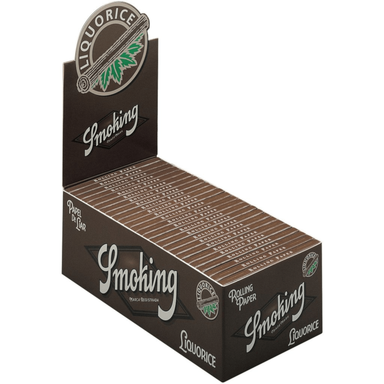 Caja de 50 Papel SMOKING Liquorice 70 mm