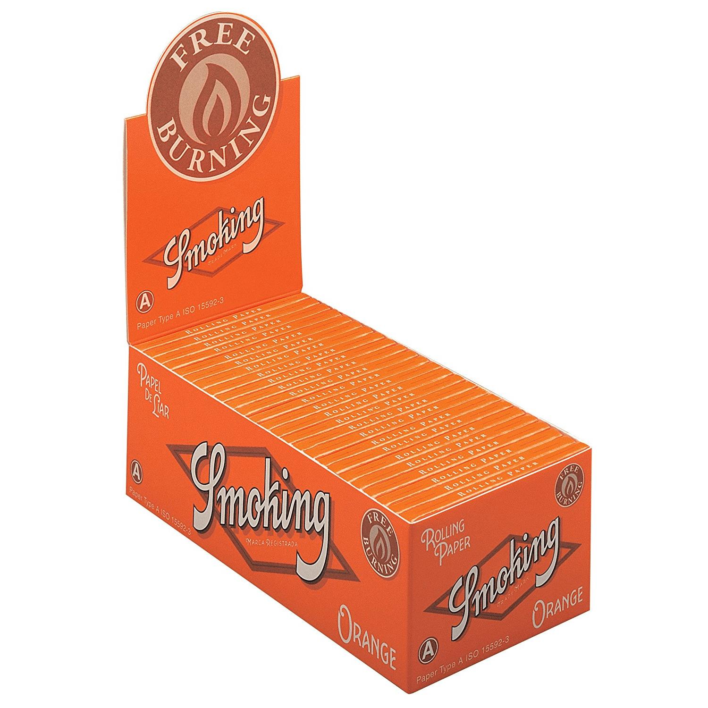 Caja de 50 Papel SMOKING Naranja Corto 70 mm