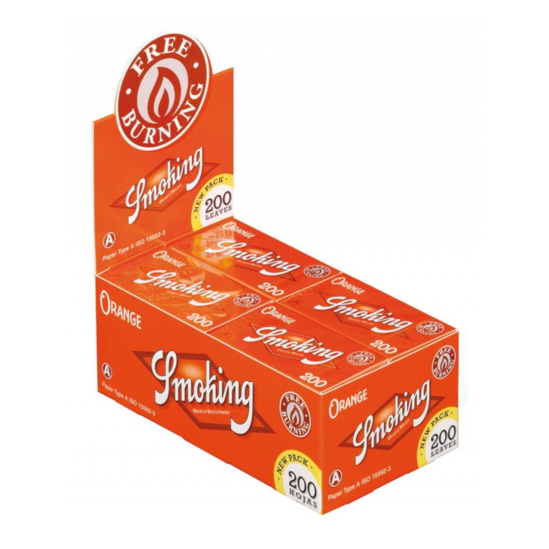 Caja de 20 Papel SMOKING Naranja 200 70 mm