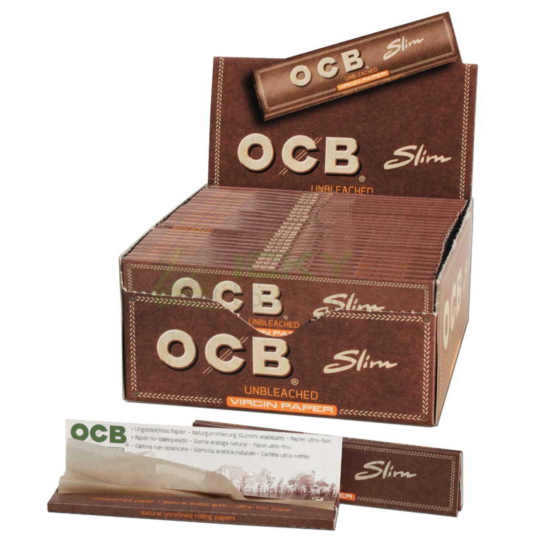 Caja de 50 Papel OCB Virgin Paper Largo 110 mm