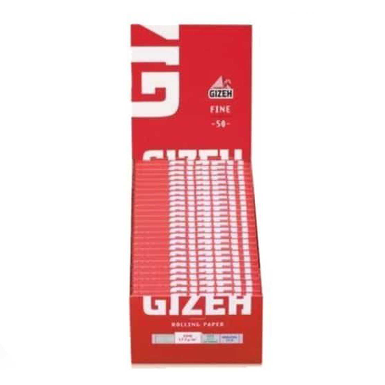 Caja de 50 Papel GIZEH Rojo Corto 70 mm