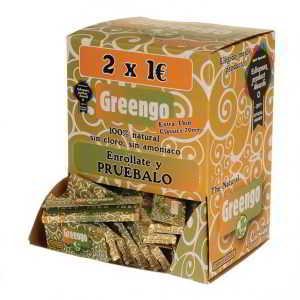 caja de 100 papeles greengo de 78 mm
