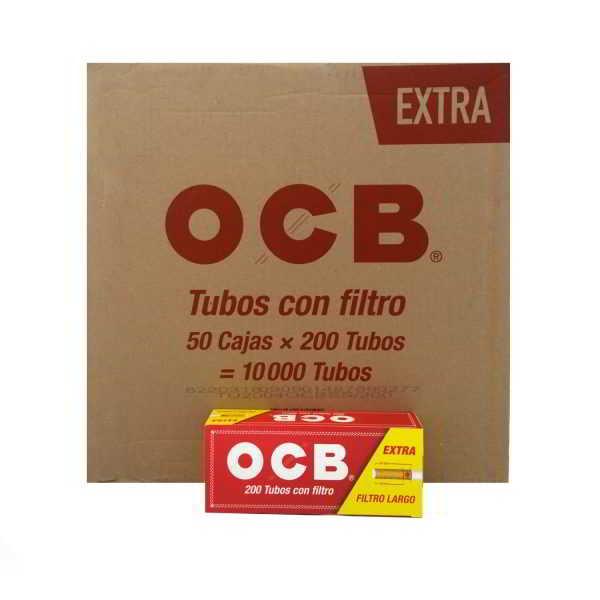 caja de 50 tubos ocb longfilter