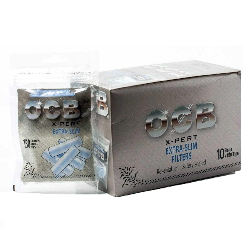 Caja de 10 Filtros OCB X-PERT Extra Slim 5.3 mm