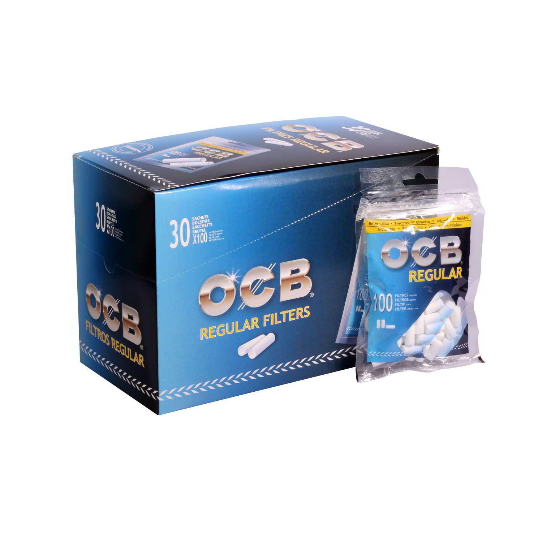 Caja de 30 Filtros OCB Regular 8 mm