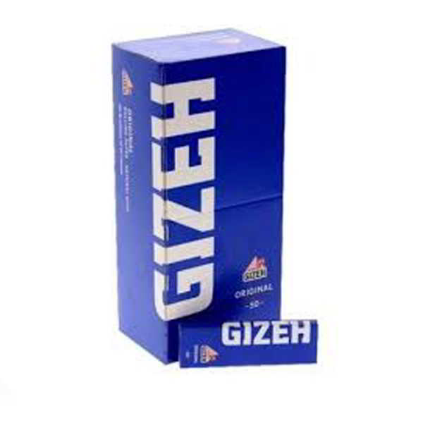 caja de papel de liar gizeh azul