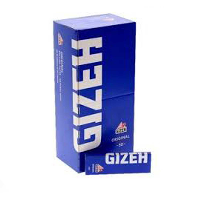 Caja de 50 Papel GIZEH Azul Corto 70 mm
