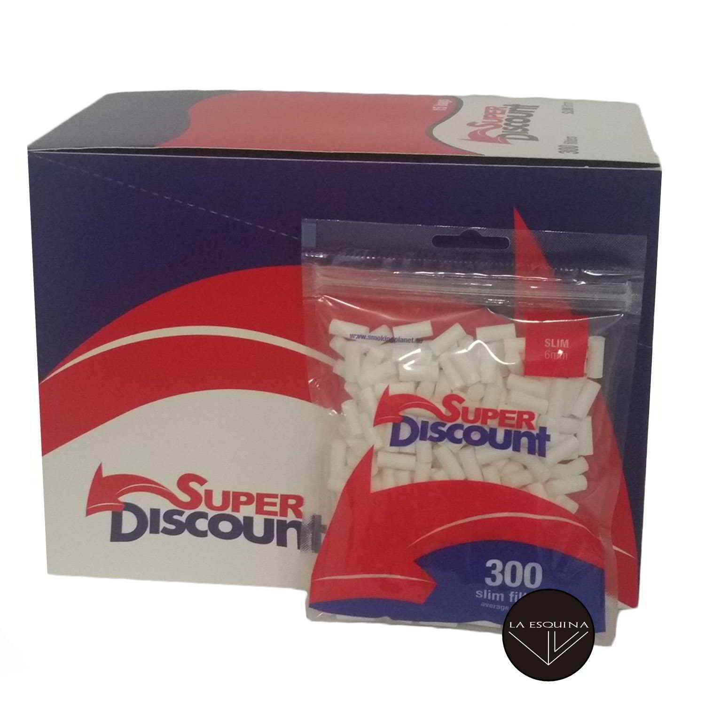 Caja de 15 Filtros SUPER DISCOUNT 6 mm 300 unidades