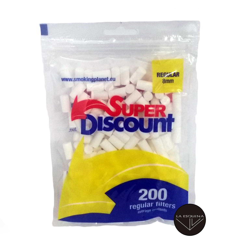 Filtros SUPER DISCOUNT 8 mm 200 unidades