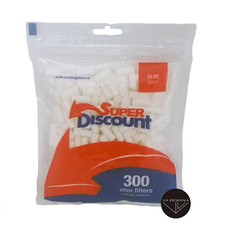 Filtros SUPER DISCOUNT 6 mm 300 unidades
