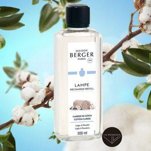 Rcambio Lampe Berger Caresse de Coton aroma algodon perfumado con flores