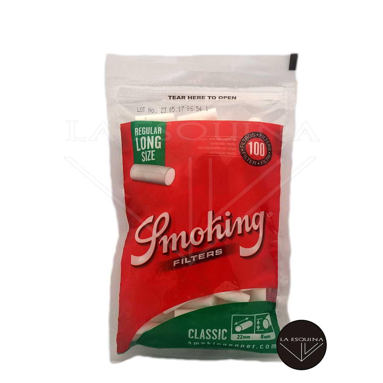 Filtros SMOKING Largos Verdes 8mm
