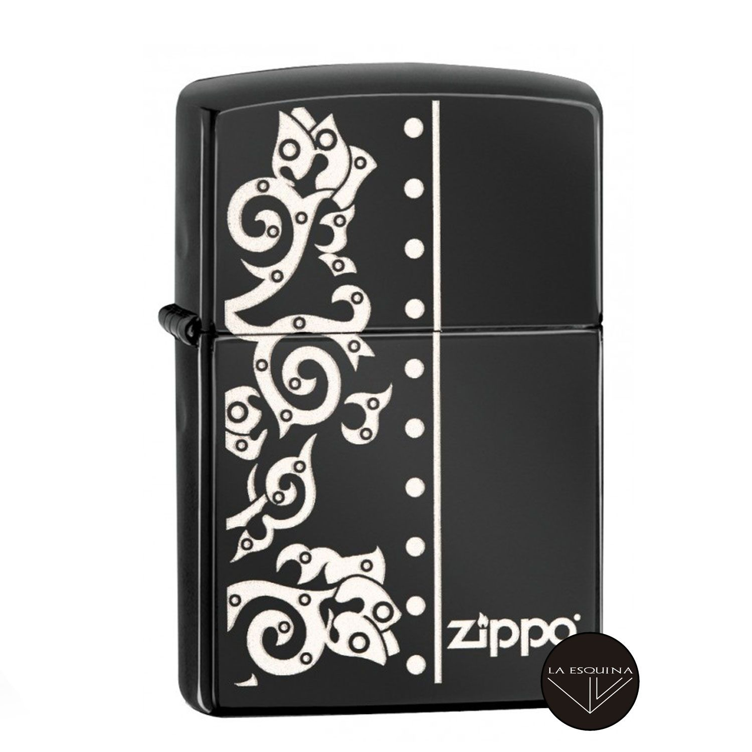 Zippo Floral and Rivets