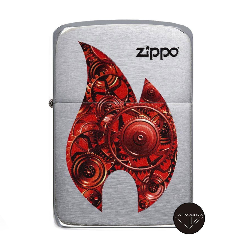 Zippo Gears Flame Design