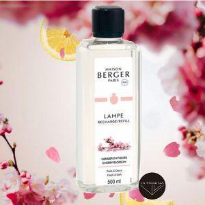 Recambio Lampe Berger Cerisier en Fleurs 500ml aroma rosa y te verde