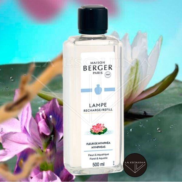 Recambio Lampe Berger Fleur de Nymphea 1000ml aroma bergamota, menta y pimienta