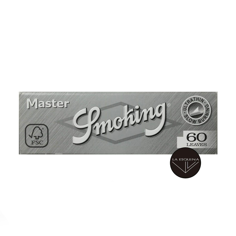 Papel SMOKING Plata 70 mm con 60 papelitos por librito, ultra fino,de combustion rapida.Papel SMOKING Gris