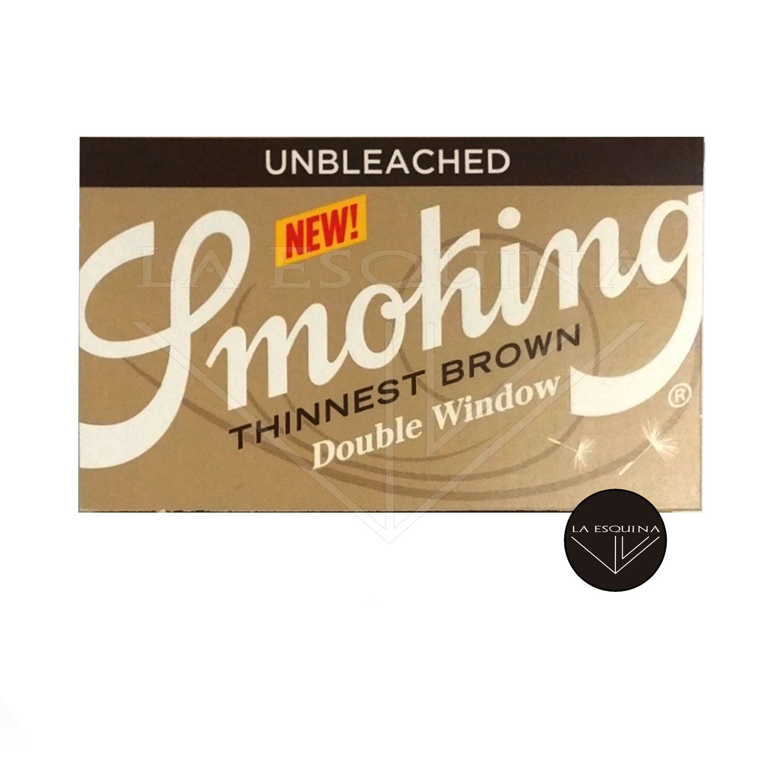 Papel SMOKING Thinnest Brown Doble Ventana 70 mm