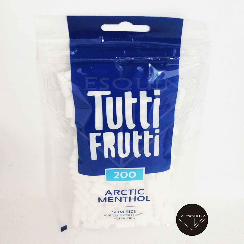 Filtros TUTTI FRUTTI Arctic Menthol Slim 6 mm