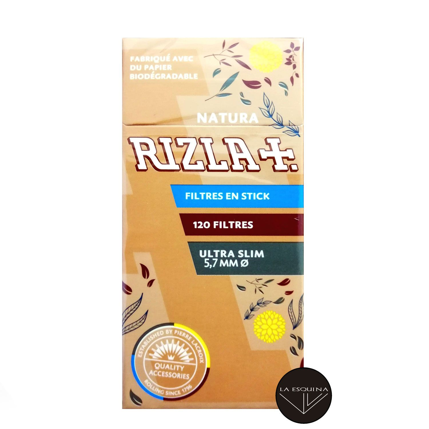 Filtros RIZLA Extra Slim Natural 5.7 mm