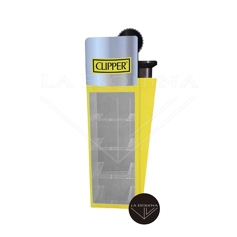 Expositor CLIPPER Dibujo Encendedor + Panel Metacrilato
