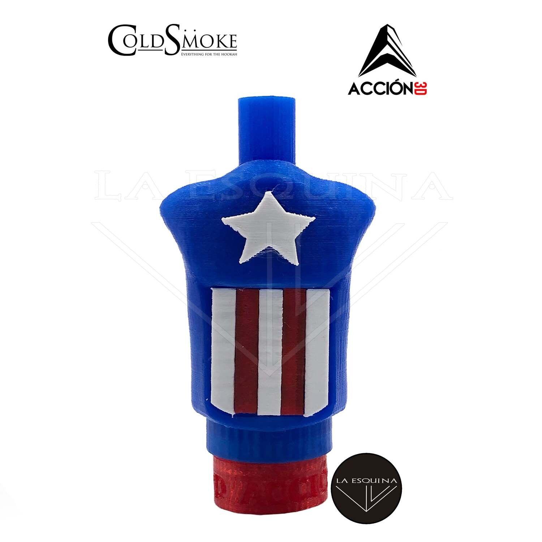 Boquilla 3D Capitán América