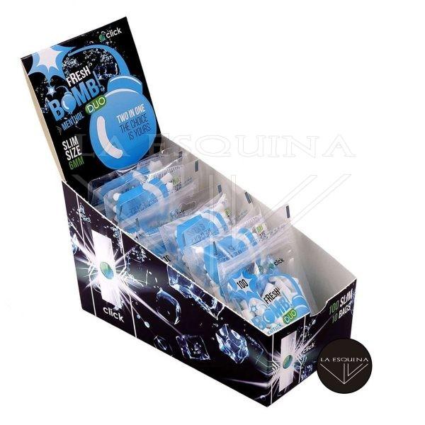 Caja de 10 Filtros FRESH BOMB! Menthol Duo Slim 6 mm