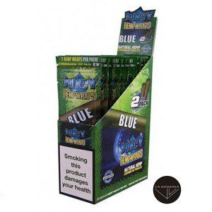 Caja de 25 papel juicy hemp wraps blue