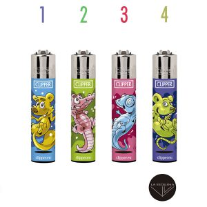 Encendedor Clipper Recargable splash animals