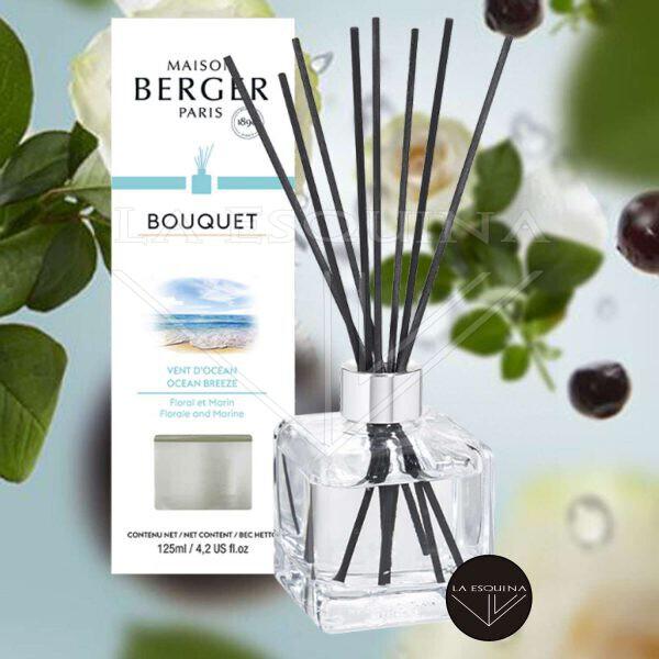 Bouquet Perfumado Cubo Vent d'Océan,varillas aroma a pomelo y toques amaderados