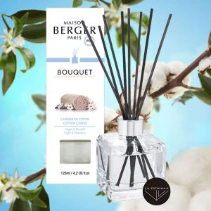 Lampara de barillas de olor Bouquet Caresse Cotton de Lampe Berger