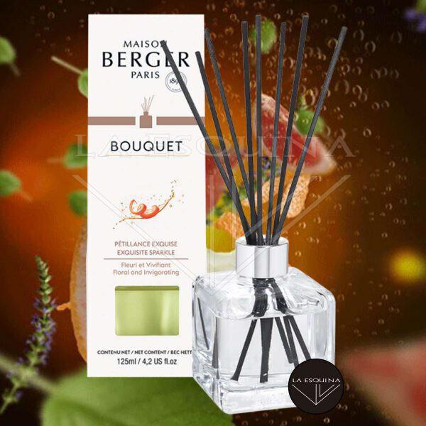 Bouquet Perfumado Cubo Pétillance Exquise 125ml,varillas con aroma a ralladura de pomelo