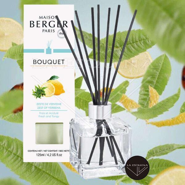 Bouquet Perfumado Cubo Zeste de Verveine 125ml,varillas aroma a limon fresco