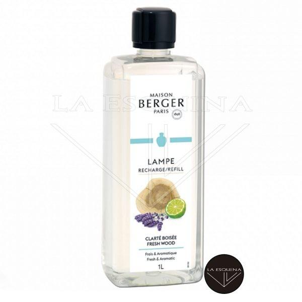 Parfum de Maison Lampe Clarté Boisée 1L,aroma bergamota y piña