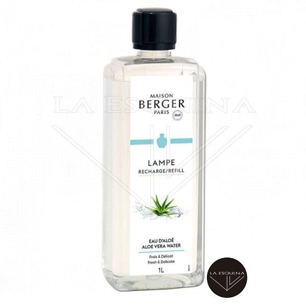 Recambio Lamper Berger Eau d'Aloé 1L,aroma aloe vera