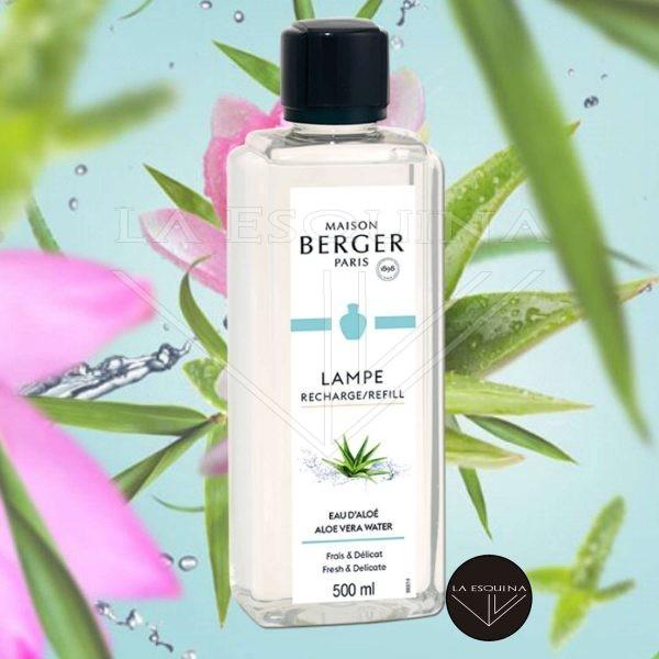 Recambio Lamper Berger Eau d'Aloé 500ml,aroma aloe vera