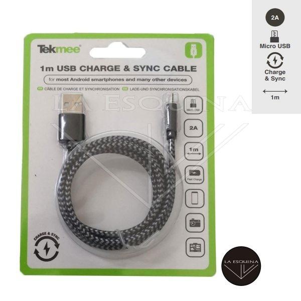 TEKMEE 1M Micro USB/USB Cable