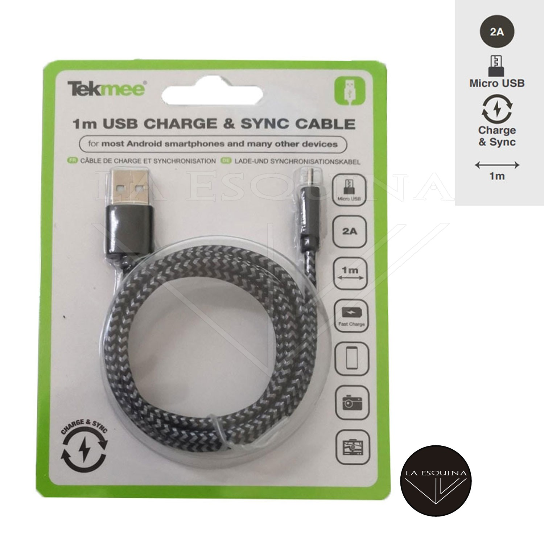 Cable Cargador TEKMEE 1M Micro USB/USB