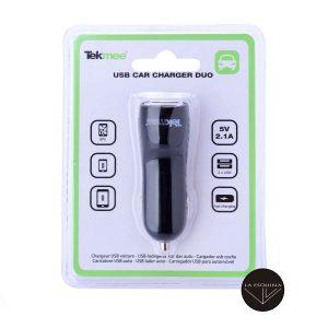 TEKMEE Cargador de Mechero Para Coche USB/USB Tipo C